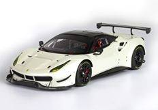 BBR - Scale 1/43 - Ferrari 488 GTE - 2015 - Fuji White / Black roof - Limited Edition 20 pcs