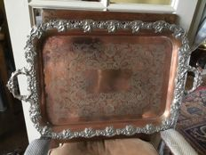 English silver plated butlers tray