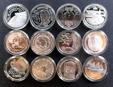 Germany - 10 Euro 2002 up to and including 2013 (12 various coins) - silver