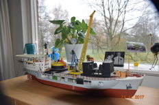 Shipbuilders model M.S. Installer, exploration ship