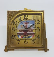 Copper Alarm Table Clock - ca  1910-1920