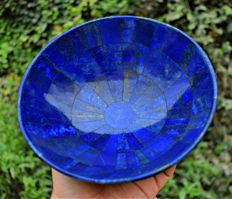 Top Quality Beautiful Lapis Lazuli Bowl from Afghanistan - 18 x 18 cm - 825 gm