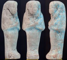 Egyptian faience Shabti ca. 11,0cm - c. 4,33 inches.