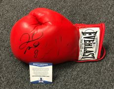 Floyd Mayweather Jr and Conor McGregor Dual Hand Signed USA Boxing Everlast Glove. TMT Money Team Autographed Beckett BAS witnessed COA No Reserve Price!
