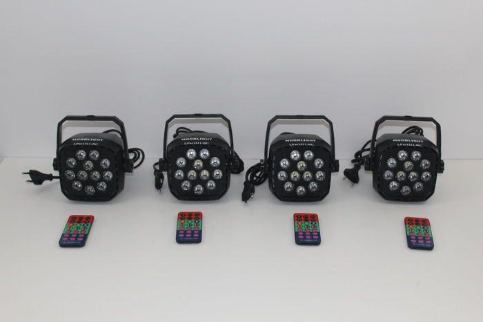 Used, Led spotlights set r, g, b, w for sale