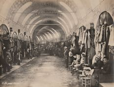 Unknown (20th century) - Inside the grand bazaar of Constantinople (Istanbul), Turkey