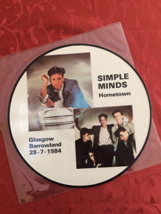Lot of Five LP Albums incl Picture disc by Simple Minds and New Model Army