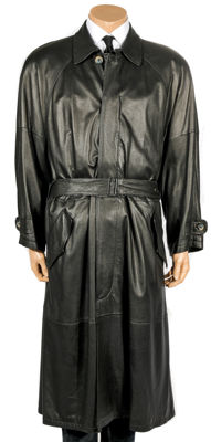 Christ - thin original leather coat - soft as butter