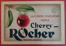 Metal sheet plate - Liqueur Cherry-Rocher - 1933