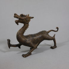 Bronze dragon - China - late 20th century