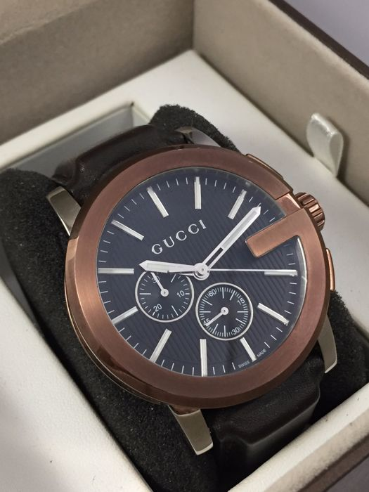 8f7422d9eb4 Watch - Gucci G Chrono - YA101202 - Men - Leather  Very low reserve price