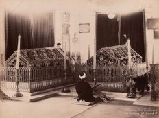 Abdullah Frères (active from 1858 to 1899) - Man praying before the tombs of the sultans Mahmoud and Aziz, Constantinople