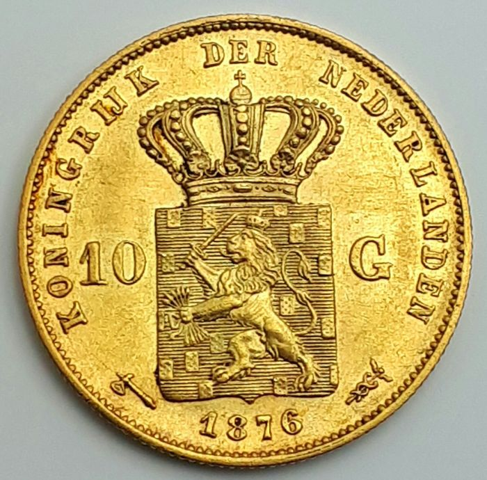 The Netherlands - 10 gulden/guilder coin 1876 Willem III  *** INVEST IN GOLD COIN ***