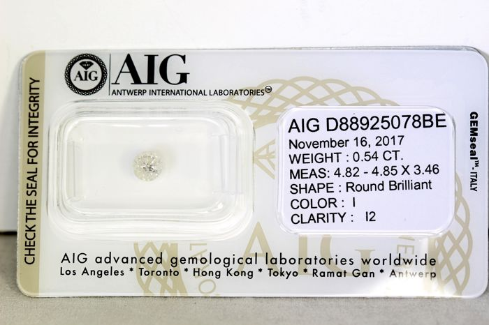 AIG Diamond - 0.54 ct - I, I2