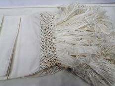 1950 towel with fringe (6 pieces) 100% jacquard damask linen weaving