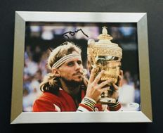 Bjorn Borg - Authentic & Original Signed Autograph in Premium Framed Photo ( 20x25cm ) - with Certificate of Authenticity JSA