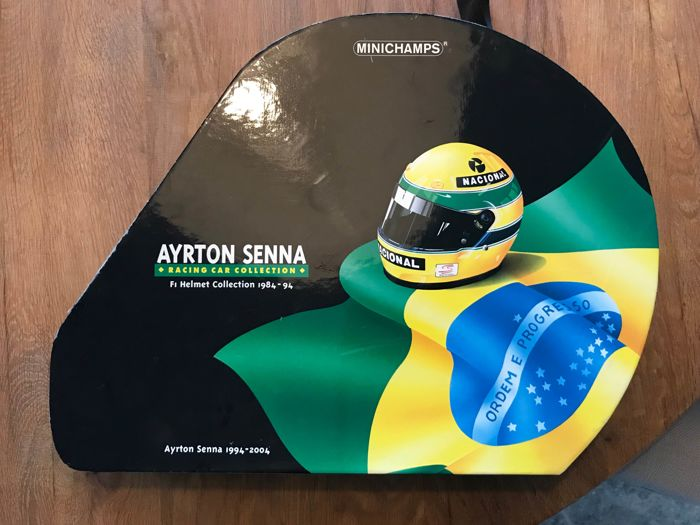 ayrton senna minichamps helm set 1984 1994 catawiki. Black Bedroom Furniture Sets. Home Design Ideas