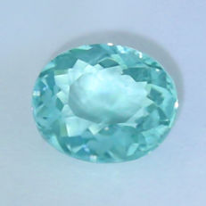 """ Neon Blue Green "" Paraiba Tourmaline - 1.35 ct."