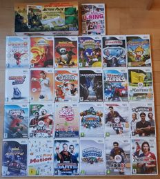 Lot of 26 Nintendo Wii games (with great titles like Kung Fu Panda, Sonic, Avatar )