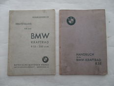 BMW - Original instruction manual and parts book BMW R35 motorcycle - 1939