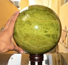 Huge & Dark Green Vesuvianite Sphere - 21.5 cm - 8.5 Inches - 16218 gm