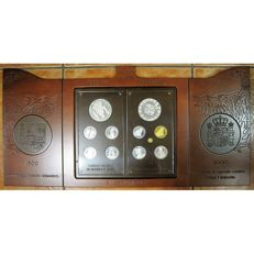 Spain - Carlos V - Year 2000 - 11 coins - silver and gold