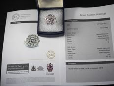 Dress ring Diamonds 1.65 total kt white gold 18 kt International Gemological Report Nr: 30305635