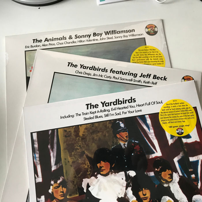 Yardbirds, The Animals, Sonny Boy Williamson lot of 3 mint/sealed Charly label LPs