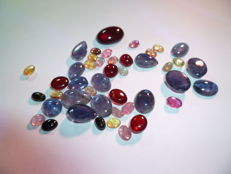 Collection Iolithe, Garnet and Tourmaline 75 carat / 15 g (total)