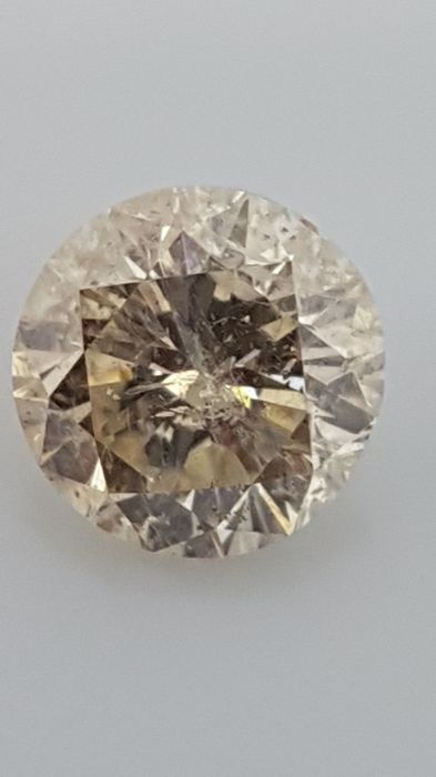 1.10 ct - Round Brilliant - Brown - SI2