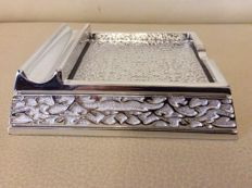Silver plated memo pad holder - Moda Argenti - Italy 2000