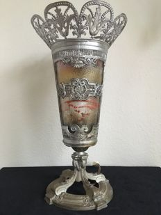 Unusual antique lamp, late 19th/early 20th century, France