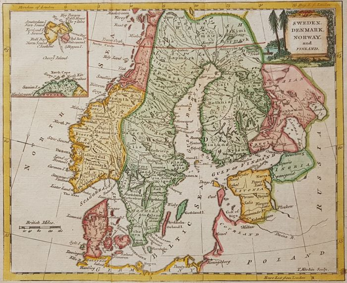 Scandinavia; William Guthrie / Thomas Kitchin - . - 1770
