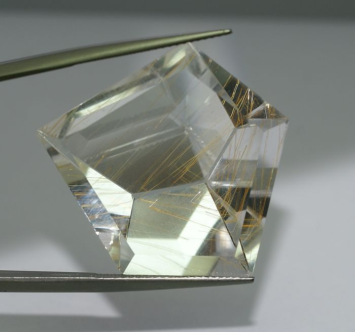 Topaz with Goethite, colourless  , 60.31 ct