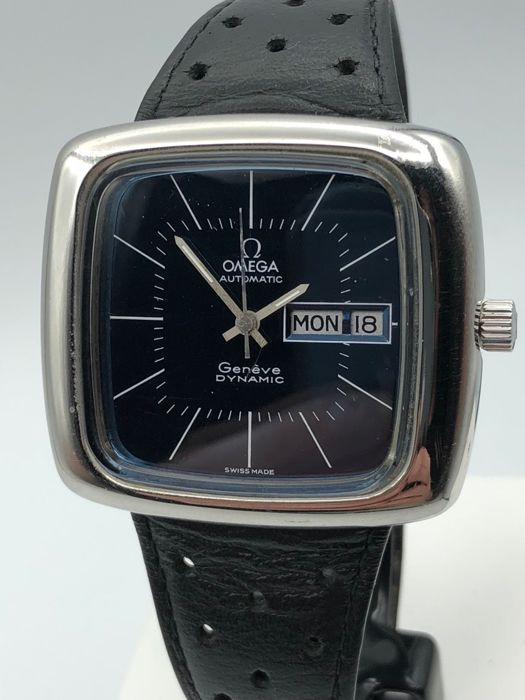 Rare Tv style Omega Geneve Dynamic SS steel DD Gents 1970-1979