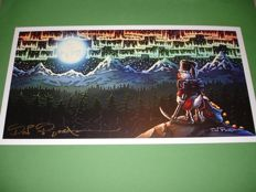 Rosa, Don - Signed Print - Uncle Scrooge - Under the Northern Lights