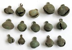 Early Medieval Bronze Bell Pendants - 17 mm - 27 mm (15)