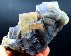 Undamaged Colourful Cubic Fluorite Crystal Cluster with Phantoms - 93 x 78 x 26mm - 214 gm