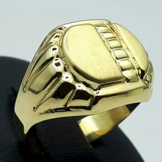 14/ 585 Ct  Yellow Gold Men's Ring, Size 19.50mm, Total Weight 3.63g,