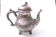 Silver plated tea pot - 19th century