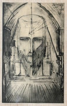After Jan Toorop (1858-1928) - Vision of Christ - 1915