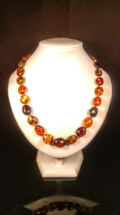 Vintage 100% Genuine Mix colour Baltic Amber necklace, length 53 cm, 31 grams