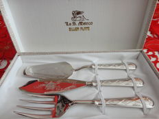 La San Marco - Silver Plated Dessert Cutlery Set - Italy, 1980s