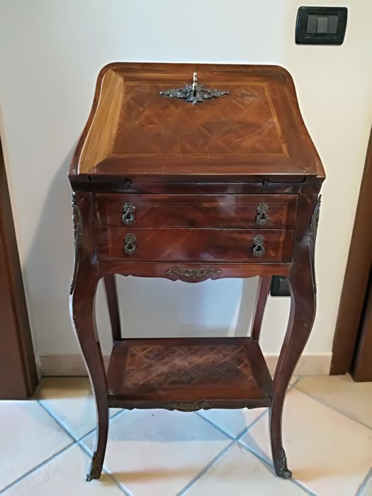 Small Secretary Desk Hand Inlaid Pattern 1800s Catawiki