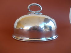 Antique Edwardian silver plated dish cover with a nice handle and an H engraved - England, late 19th century