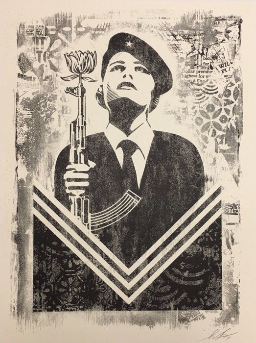Shepard Fairey (OBEY) - Peace Guard 2 - Damaged Stencil Series