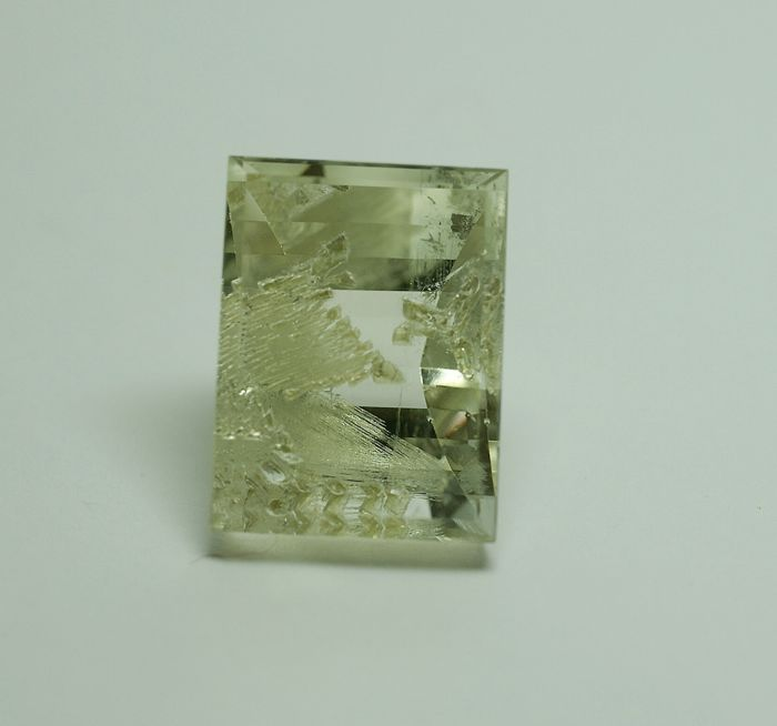 Topaz with Fluorite, yellow , 43.53 ct
