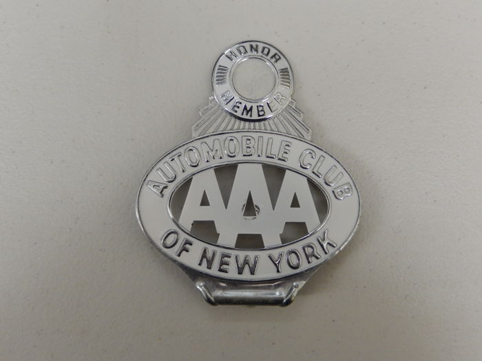 Usa badge vintage metal and paint aaa automobile club of for Aaa motor club phone number