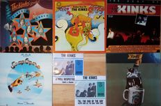 7 Very collectible Kinks' records. 5 Albums: 1) A Soap Opera (1975), 2) Arthur or the decline and fall of the British Empire (1969), 3) Golden Hour of the Kinks (1971),4) The Best of the Kinks (1981), 5) Celloloid Heroes (1976) + 2 singles