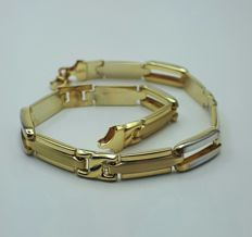 Ladie's Gold Bracelet, 14/585 Ct Yellow & White Gold, length 21.00, Total Weight 5.94g, No reserve price